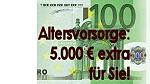 Altersvorsorge: 5.000€ extra für Sie!